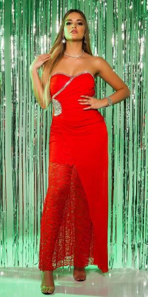 Red-Carpet-Look!Sexy Koucla Abendkleid mit Spitze
