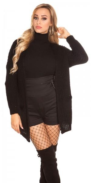Trendy KOUCLA Grobstrick -Jacke mit Taschen