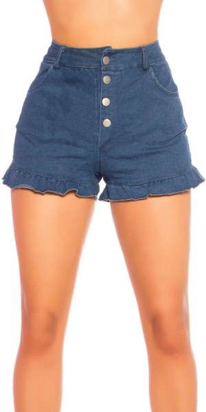 Sexy Demin Highwaist Shorts mit Knöpfen
