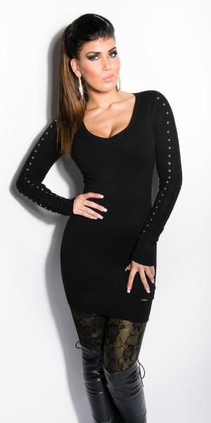 Sexy KouCla Longpulli mit Nieten und Spitze