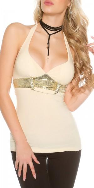 Sexy Necktop mit Pailletten