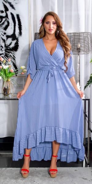 Sexy High-low Sommerkleid mit Gürtel