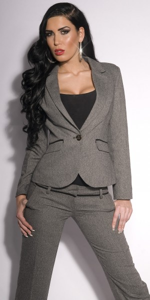 Sexy Business-Blazer mit Patches und Glitter