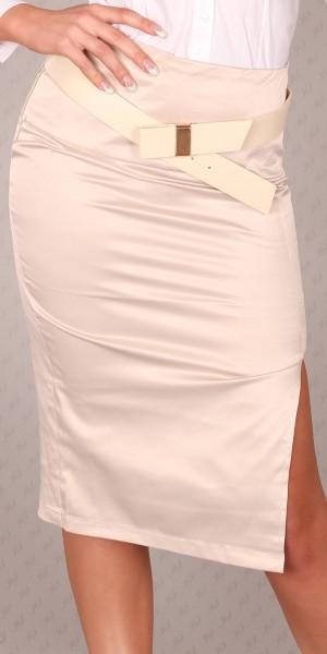Sexy Taillenrock mit Gürtel und Schlitz