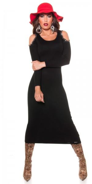 Sexy KouCla Kleid mit Strasssteinchen