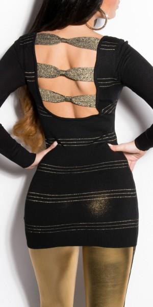 Sexy KouCla Longpulli mit Schleifen am Rücken