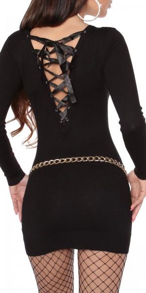 Sexy KouCla Strickkleid zum Binden am Rücken