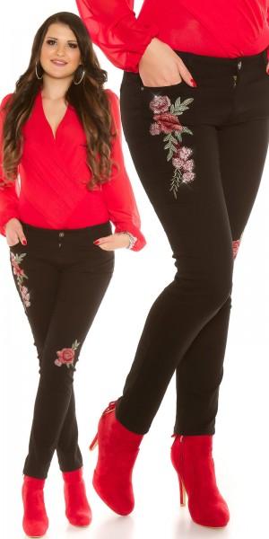 Curvy Girls Size! Sexy Jeans mit Stickerei
