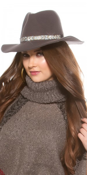 Trendy Fedora Hut mit Strasssteinen