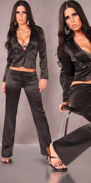 Sexy Satin-Blazer zum Knöpfen