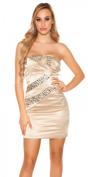 Sexy Party Cocktail-Kleid mit Steinen besetzt