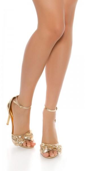 Sexy Fesselriemchen-Sandaletten High Heels
