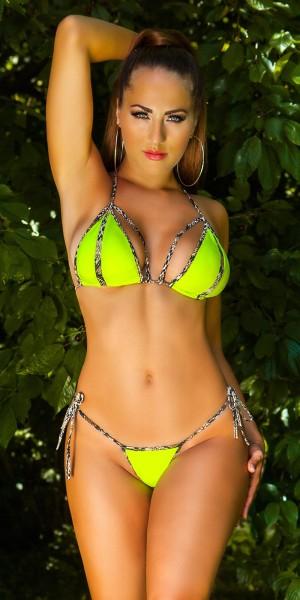Sexy Neck-Bikini z. Binden m. herausnehmbaren Pads