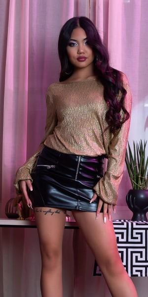 Sexy Koucla Party-Langarmshirt mit WOW-Rücken