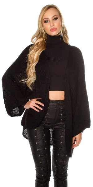 Trendy XXL-Grobstrickjacke