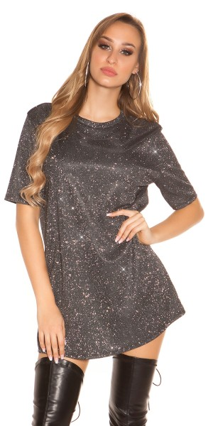 Trendy LeT s PaRTY Glitzer Shirtkleid