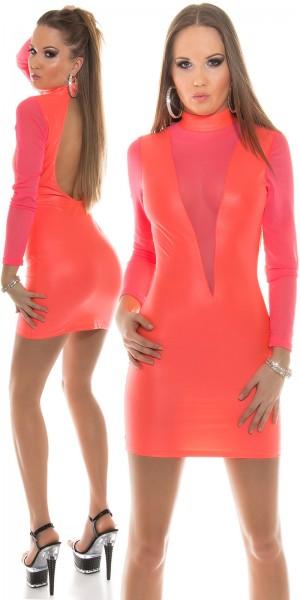 Sexy KouCla Minikleid Sexy Einblick Rücken frei