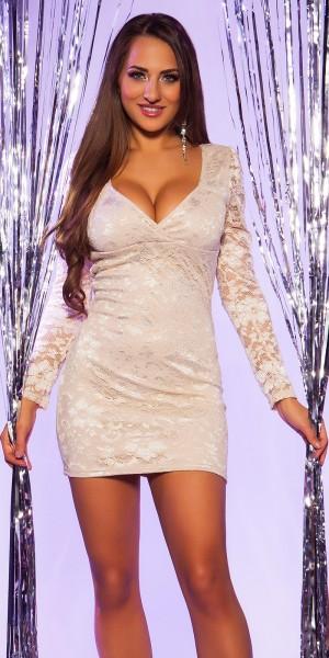 Sexy KouCla Minikleid mit Spitze