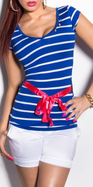Trendy KouCla Shirt mit Taillenband