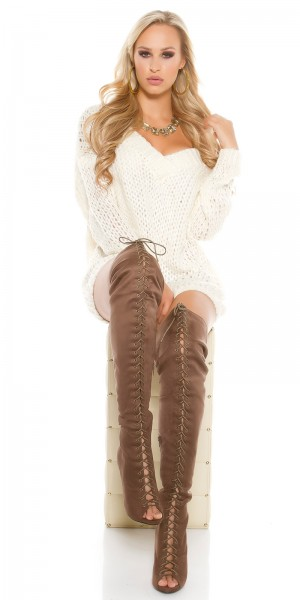 Sexy Overknee-Stiefel KylieJ. Style Wildlederoptik