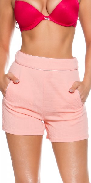 Sexy KouCla High Waist Shorts mit Taschen