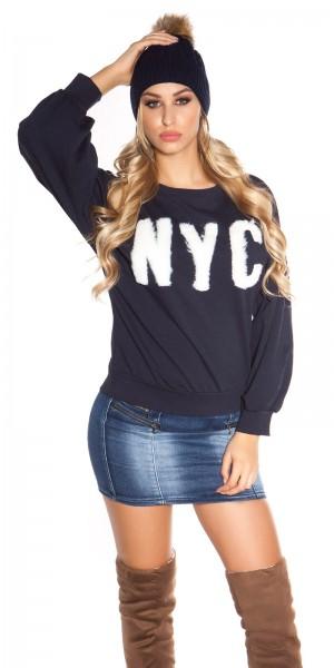 "Trendy Rundhalspullover ""NYC"""