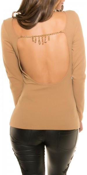 Sexy Koucla-Shirt mit WOW!Rückenansicht & Kette