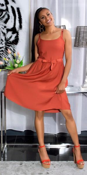 Trendy Träger-Sommerkleid mit Taillenbund