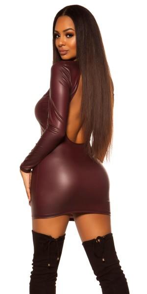 Sexy KouCla Neckholder Wetlook Minikleid
