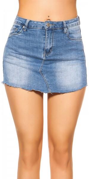 Sexy LightWash Jeansskorts used look