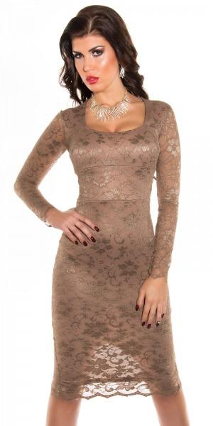 Sexy KouCla Midi-Kleid mit Spitze