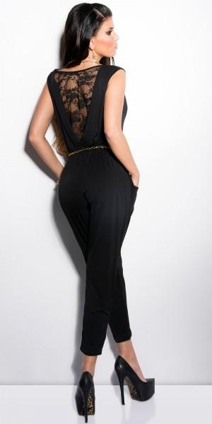 Sexy-Overall mit Spitze und Guertel